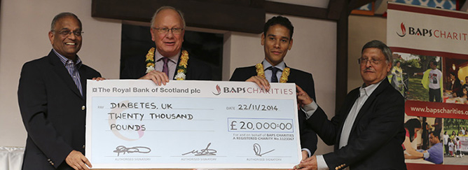 Diabetes UK Cheque Presentation 2014_feature