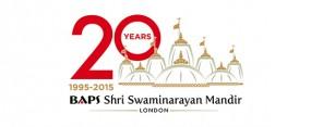 London Mandir 20th Anniversary Logo NEW