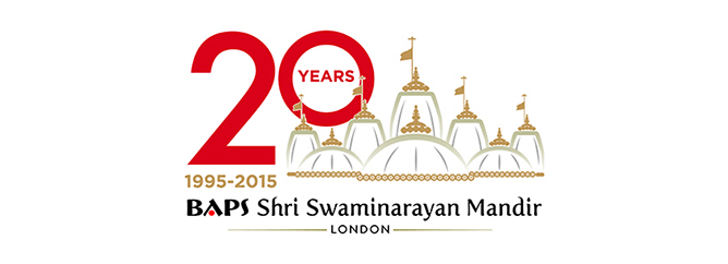 London Mandir 20th Anniversary Logo NEW