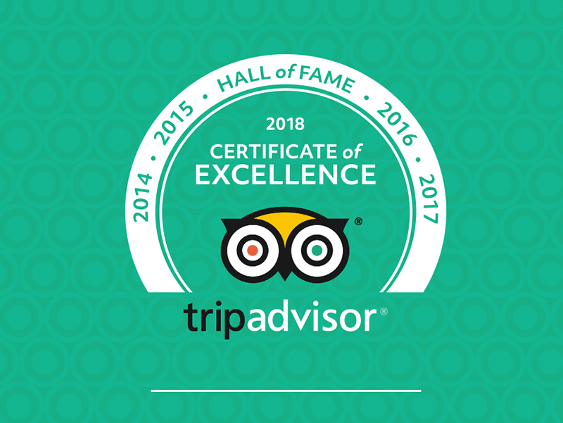 TripAdvisor 2018 'Hall of Frame' - hero