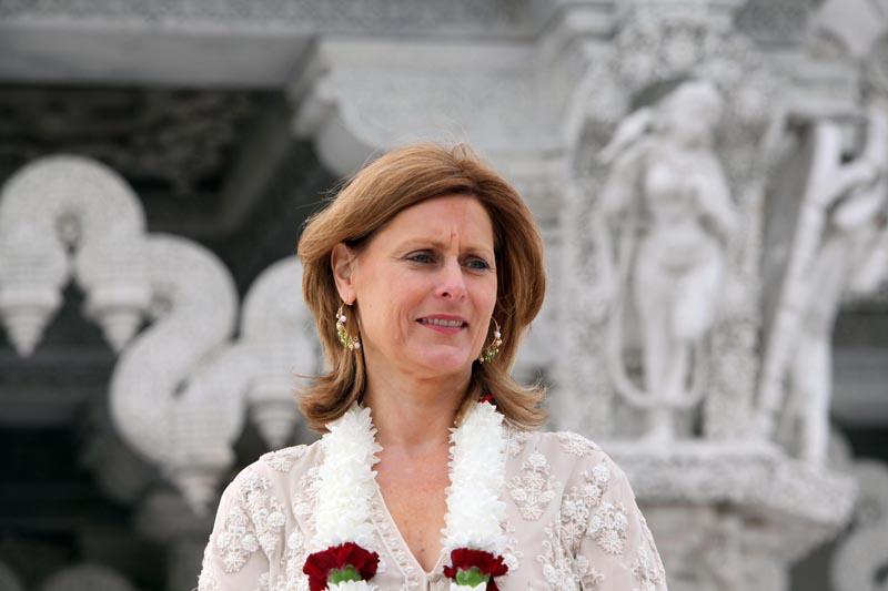 Sarah Brown at Neasden Temple